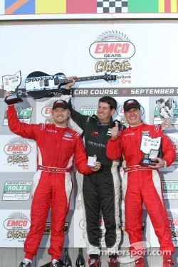 DP podium: class and overall winners Ryan Dalziel and Enzo Potolicchio