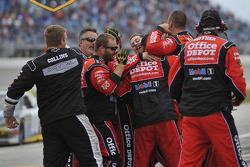 Stewart-Haas Racing Chevrolet team members celebrate