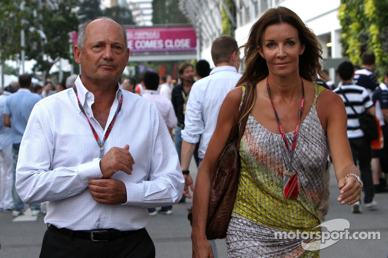 Ron Dennis and his girlfriend