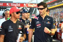 Lewis Hamilton, McLaren Mercedes y Mark Webber, Red Bull Racing
