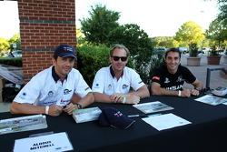 Petit Le Mans pre-race party: Aldous Mitchel,  Jordan Grogor, Bassam Kronfli