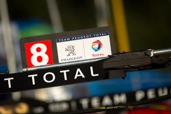#8 Peugeot Sport Total Peugeot 908 pit sign