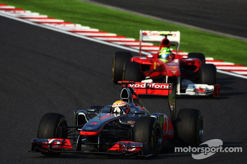 Lewis Hamilton, McLaren Mercedes leads Felipe Massa, Scuderia Ferrari