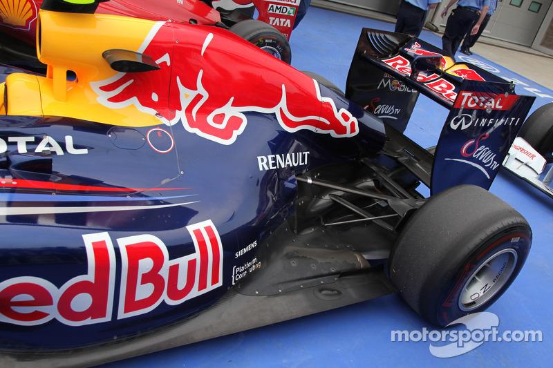 Sebastian Vettel, Red Bull Racing rear wing detail