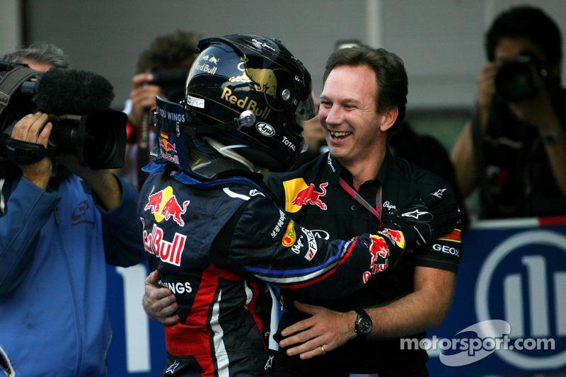 Sebastian Vettel, Red Bull Racing and Christian Horner, Red Bull Racing, Sporting Director
