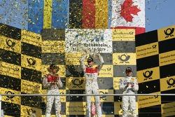 Championship Podium, 2nd Mattias Ekström, Audi Sport Team Abt, Audi A4 DTM, 1st Martin Tomczyk, Audi Sport Team Phoenix, Audi A4 DTM, 3rd Bruno Spengler, Team HWA AMG Mercedes, AMG Mercedes C-Klasse.