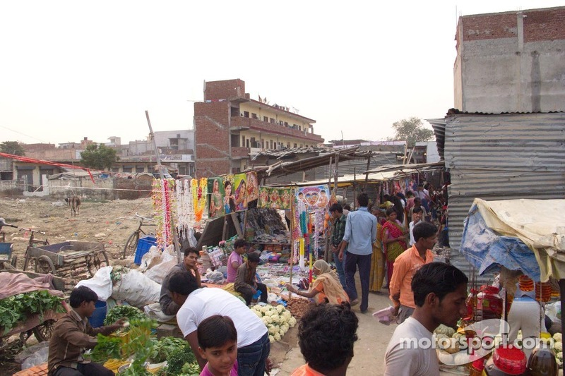 Local villagers in Greater Noida, India