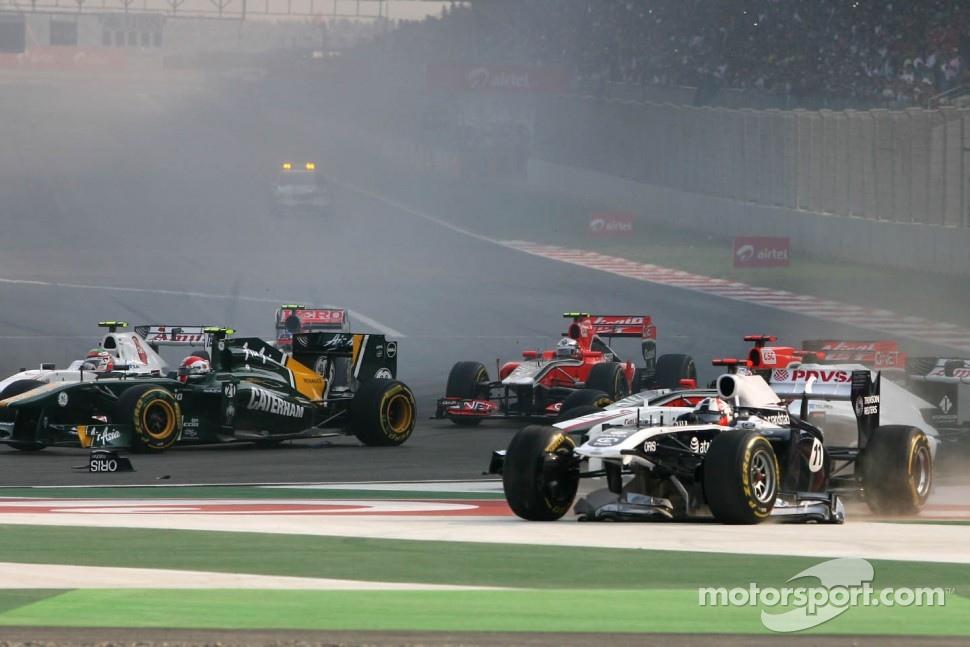 Start of the race, Rubens Barrichello, Williams F1 Team