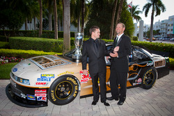 NASCAR Nationwide Series champion driver Ricky Stenhouse Jr., Roush-Fenway Ford with crew chief Mike Kelley