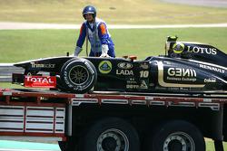 Car of Romain Grosjean, Lotus Renault GP