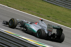Michael Schumacher, Mercedes GP gets a puncture