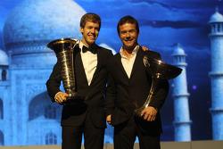Чемпион Формулы 1 - Себастьян Феттель и чемпион WRC - Себастьен Лёб