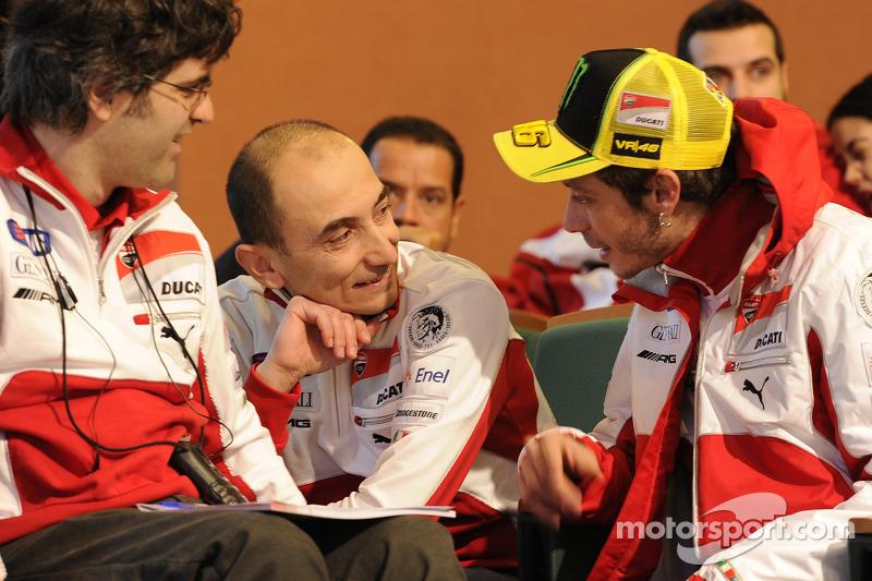 Filippo Preziosi, Ducati Corse General Manager en Valentino Rossi