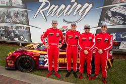 #26 NGT Motorsport Porsche GT3 presentation: Sean Edwards, Nick Tandy, Carlos Kauffmann and Henrique Cisneros