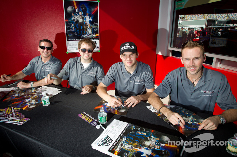 Andy Lally, John Potter, Richard Lietz, Rene Rast