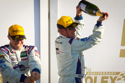 GT podium: Hurley Haywood celebrates