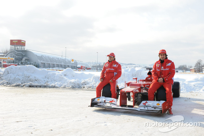 Fernando Alonso and Felipe Massa with the F2012