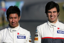 Kamui Kobayashi, Sauber F1 Team and Sergio Perez, Sauber F1 Team