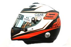 Kimi Raikkonen, Lotus Renault F1 Team helmet