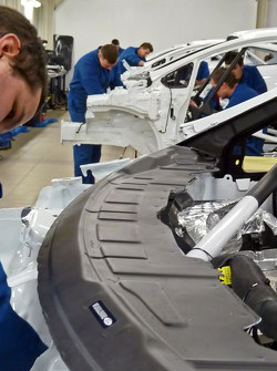 M-Sport Poland works on the WRC Academy Ford Fiesta RS