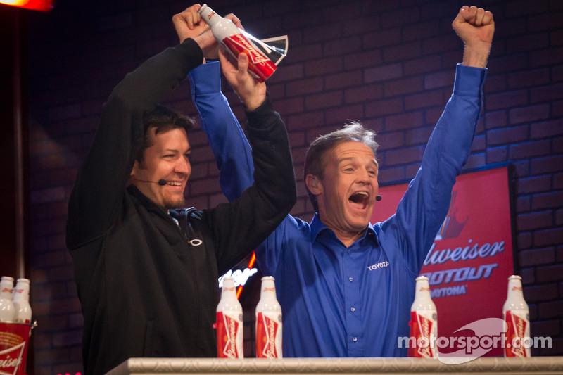 Martin Truex Jr., Michael Waltrip Racing Toyota draws the pole winner bottle