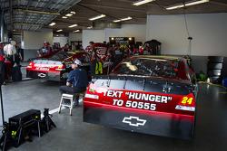 Hendrick Motorsports Chevrolet garage area