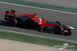 Timo Glock tested in the old car last week