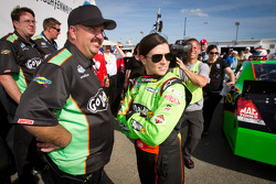 Pole winner Danica Patrick, JR Motorsports Chevrolet with crew chief Tony Eury Jr.