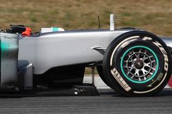 Mercedes GP tea tray area