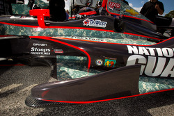 Bodywork on the car of J.R. Hildebrand, Panther Racing Chevrolet