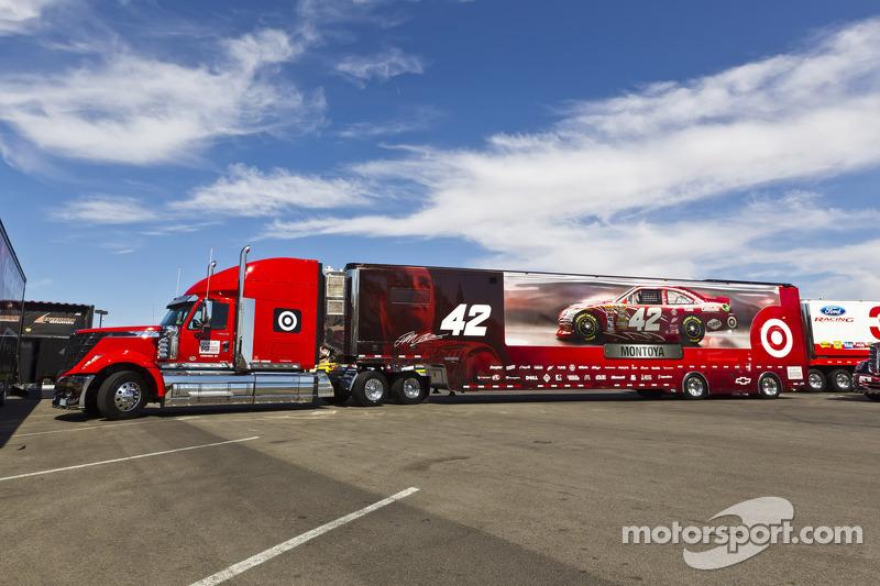 The Hauler Of Juan Pablo Montoya Earnhardt Ganassi Racing