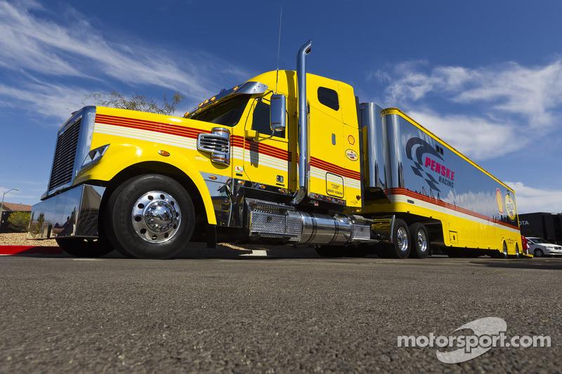 The hauler of A.J. Allmendinger, Penske Racing Dodge
