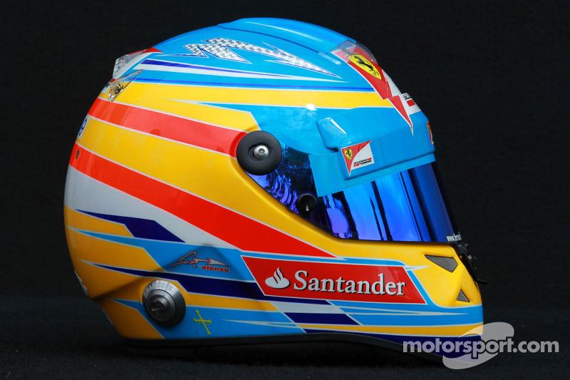 Casco de Fernando Alonso en 2012