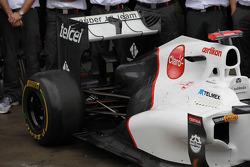 Sauber rear suspension