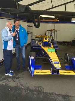 Roberto Diacetti, presidente di EUR SpA, nei garage