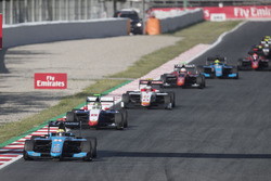 Arjun Maini, Jenzer Motorsport leading Dorian Boccolacci, Trident, Raoul Hyman, Campos Racing