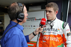 Paul di Resta, Sahara Force India Formula One Team and Martin Brundle, SKY TV