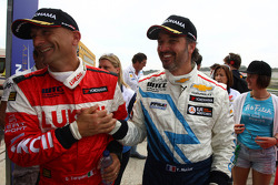 Gabriele Tarquini, SEAT Leon WTCC, Lukoil Racing Team 2nd position and Yvan Muller, Chevrolet Cruze 1.6T, Chevrolet pole position