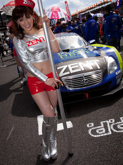 Race queen for the pole winning #38 Lexus Team Zent Cerumo Lexus SC430