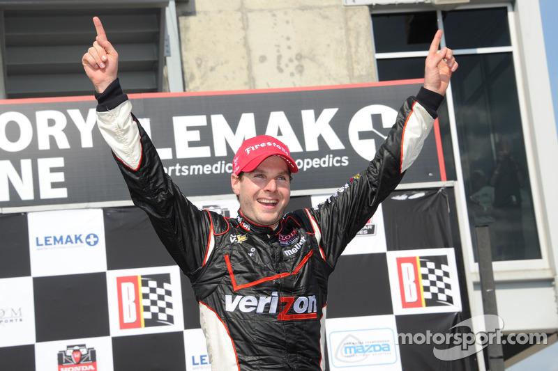 Race winner Will Power, Verizon Team Penske Chevrolet