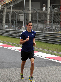 Sebastien Buemi, Red Bull Racing third driver runs the track