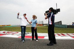 Nico Hulkenberg, Sahara Force India F1 interviewed on the circuit with a Sky Sports Presenter