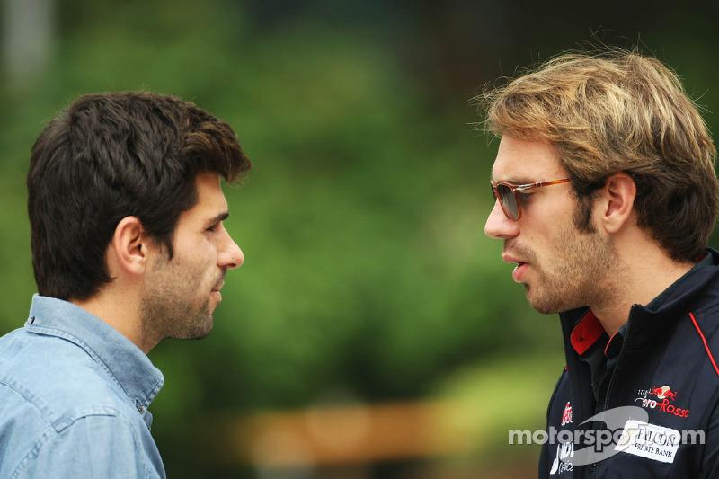 Jaime Alguersuari, BBC Radio 5 Live Expert Summariser with Jean-Eric Vergne, Scuderia Toro Rosso ...
