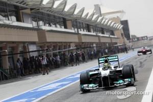 Nico Rosberg, Mercedes AMG F1 leaves the pits