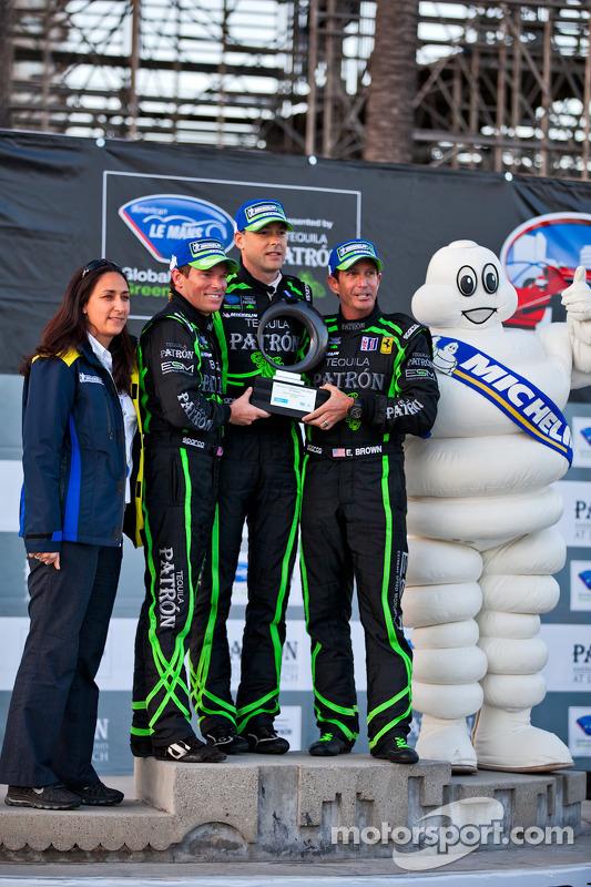 Michelin Trophy winners Scott Sharp, Johannes van Overbeek and Ed Brown