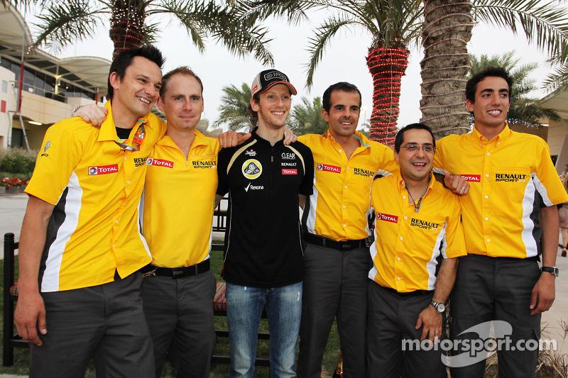 Romain Grosjean, Lotus F1 Team viert derde plaats met team