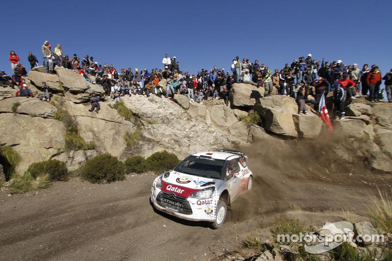 Nasser Al-Attiyah and Giovanni Bernacchini, Citroën DS3 WRC, Qatar World Rally Team