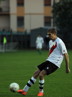 Vitaly Petrov, Caterham F1 Team at a local soccer match