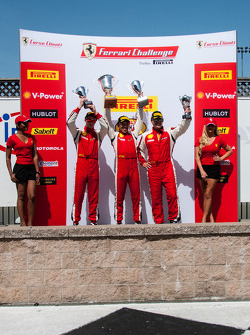 458TP podium: first place Harry Cheung, second place Onofrio Triarsi, third place Richard Fant