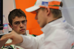 Paul di Resta, Sahara Force India Formula One Team and Nico Hulkenberg, Sahara Force India Formula One Team